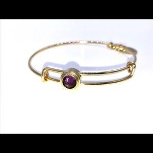 Alex and Ani purple Sacred Stud Bracelet